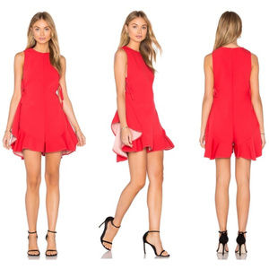 KENDALL + KYLIE Romper NEW Lace Up Paprika, Small